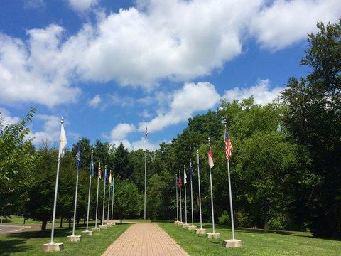 Washington Crossing Historic Park flags