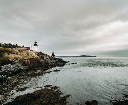 West Quoddy Head lighthouse, the eastermost point in the United States