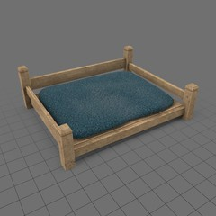 Empty dog bed