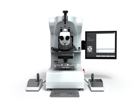 electron microscope 3d render on white