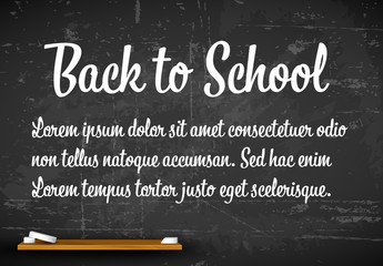 Back to School Banner Layout with Chalkboard Background