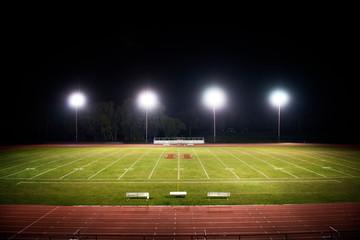 View of empty stadium at night