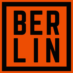 Berlin Typography City Logo