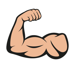 Biceps. Muscle icon. Vector illustration