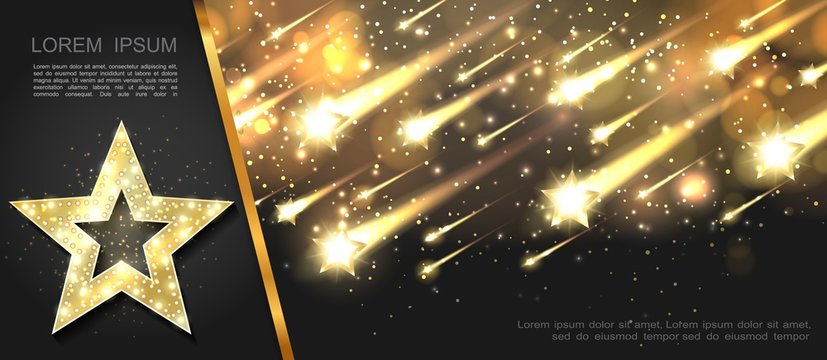 Abstract Glowing Starry Template