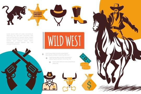 Flat Wild West Composition