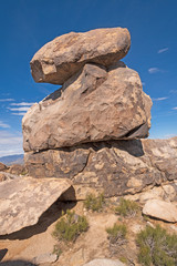 Balanced Boulders at the Top of a Desert Mountain