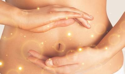 Abdomen balance beauty belly body bodycare button Fototapete