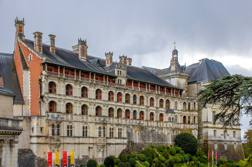 Journey to France - Blois . Royal  castle in Loire Valley, France.