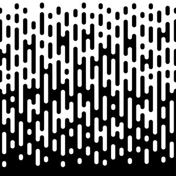 Seamless rounded lines halftone transition. Trendy abstract background.