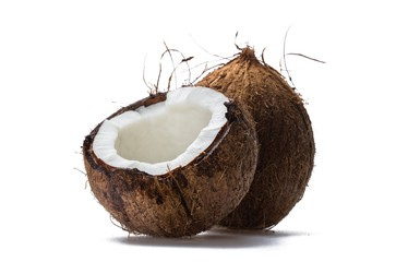 Opened coconut