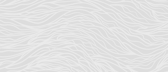 Hand drawn sea pattern with waves. Monochrome universal texture. Abstract nautical background. Doodle for your design. Wallpaper for banners. Black and white illustration