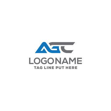AGC LETTER LOGO DESIGN TEMPLATE