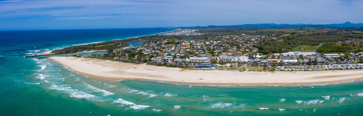 Papiers peints Cote Panorama of Kingscliff on the Northern NSW coast