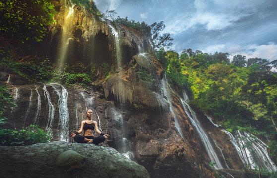 Serenity and yoga practicing, meditation