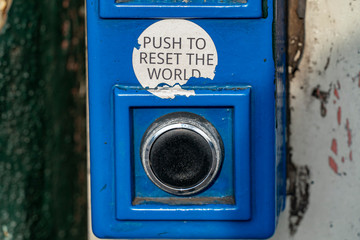 push to reset world button Fotomurales