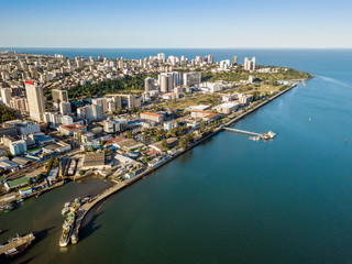 Aerial view of Maputo, capital city of Mozambique, Africa