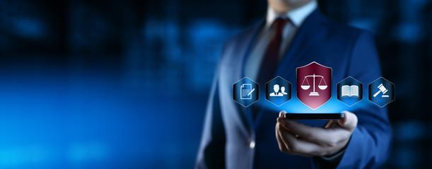 Fototapeta Labor Law Lawyer Legal Business Internet Technology Concept obraz