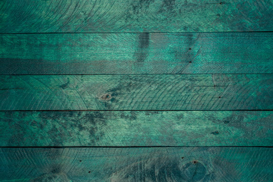 Petrolfarbener Fond Holzuntergrund Textur