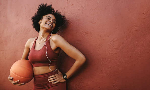 Positive woman exercising