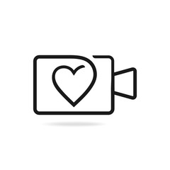 Wedding videography logo design. Vector image.