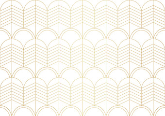 Luxury art deco seamless pattern. Abstract vector background. Geometric damask texture.