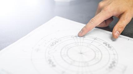 rysunek techniczny- plan- inżynier