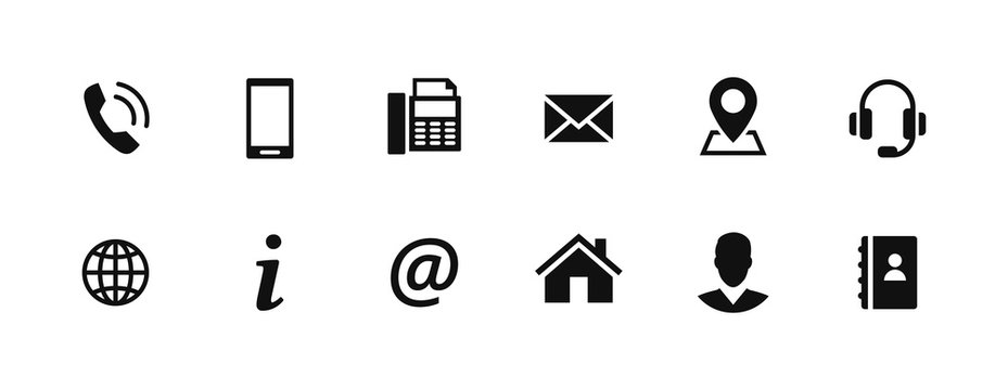 Set of contact icons