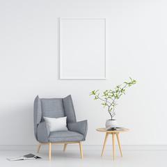 Blank photo frame for mockup, 3D rendering
