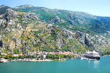 Kotor, Montenegro. A fortified town on Montenegro's Adriatic coast. Old Town area is a UNESCO World Heritage Site, in the Gulf of Kotor in Montenegro