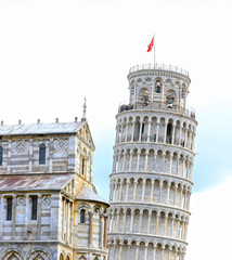 Leaning Tower of Pisa, Pisa Cathedral, Roman Catholic cathedral dedicated to the Assumption of the Mary.