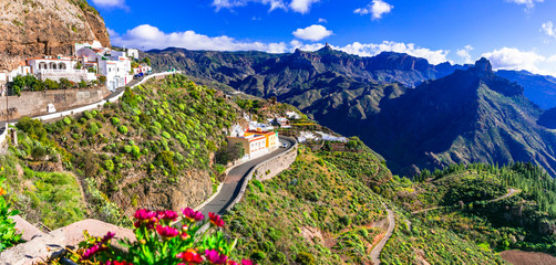 Impressive Artenara  - Gran Canaria's highest mountain village. Grand Canary, Canary islands of Spain Wall mural