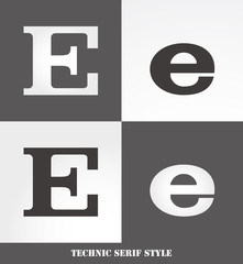 eps Vector image: Linear Serif style initials (E)