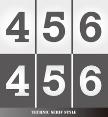 eps Vector image: Linear Serif style number.456