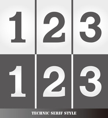 eps Vector image: Linear Serif style number.123