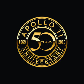 50 years moon landing Apollo 11 celebration anniversary for website, poster, greeting card, social media