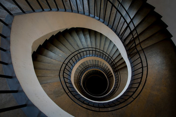 Foto op Canvas Spiraal Spiral Staircase in Germany, Monaco city centre