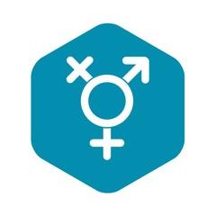 Transgender sign icon. Simple illustration of transgender sign vector icon for web