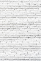 White brick wall with shadows, texture or background