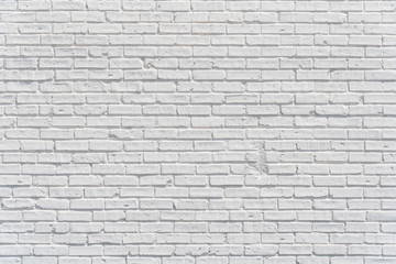 Brick white wall with shadows, texture or background
