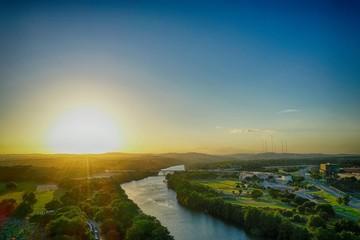 Colorado River landscape near Austin