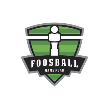 foosball game emblem badge logo icon vector template
