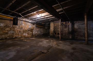 Fototapeta Grungy warehouse basement