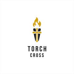 Torch / Cross Church logo design inspiration