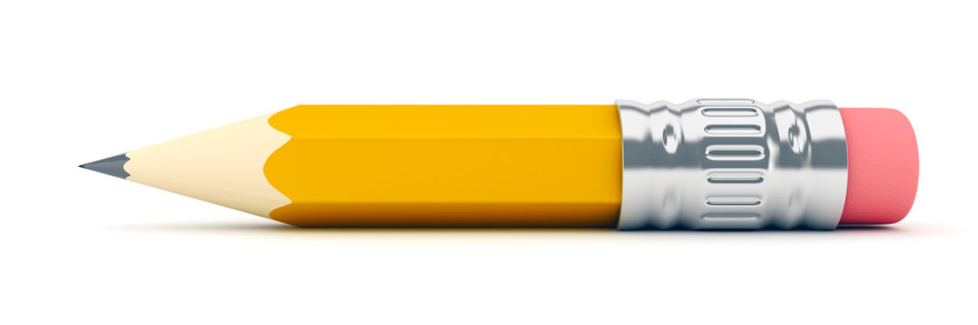 Tiny sharp pencil - 3d render