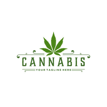 Minimalist Cannabis Green Logo Design