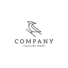 Bird Cardinal logo design template - Vector