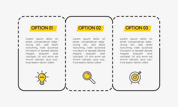 Infographic layout with 3 options. Vector