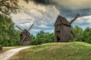 wiatraki drewniane w Muzeum Wsi Opolskiej