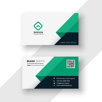 turquoise business card design template